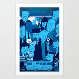 Breaking Bad (blue version) Art Print