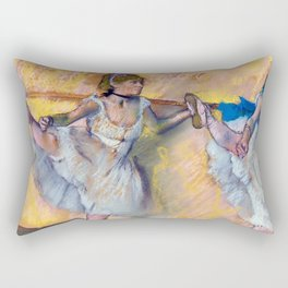 "Edgar Degas ""Danseuses à la barre (Dancers at the bar)"" Rectangular Pillow"
