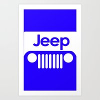 jeep Art Prints featuring Jeep by rita rose