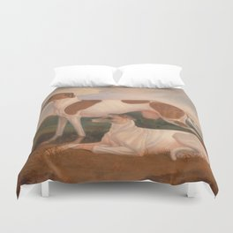 oil paintings of greyhounds Duvet Cover
