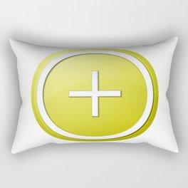 Yellow Plus Button Rectangular Pillow