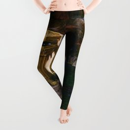 PANDORAS BOX - JOHN WILLIAM WATERHOUSE  Leggings