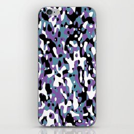 Uncovered Camouflage Purple And Turquoise iPhone Skin
