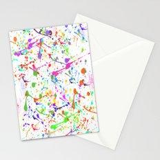 Paint Splatter 2 - White Stationery Cards