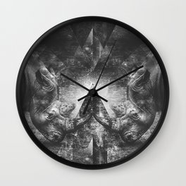 Rhino resistance Wall Clock