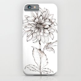 Dahlia Solo Inked iPhone Case