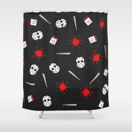 Friday the 13th pattern Shower Curtain
