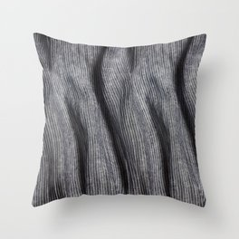 Striped linen textile Throw Pillow