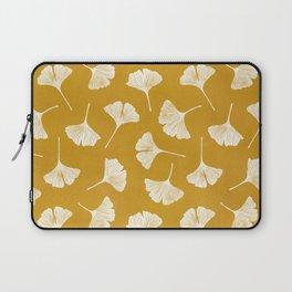 Ginkgo Biloba | Yellow Background Laptop Sleeve