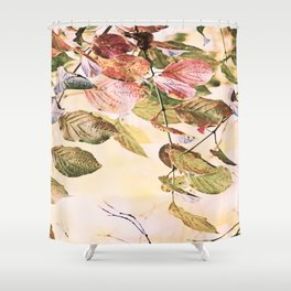 Pastell Leaves  Shower Curtain