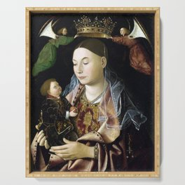 Antonello da Messina Madonna Salting Serving Tray