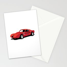 Vintage Hill Climb Race Car Stationery Cards
