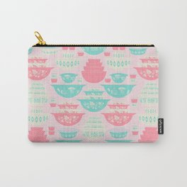 Pink and Turquoise Everything Carry-All Pouch