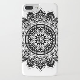 black white mandala iPhone Case