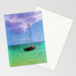 Lonely Boat Stationery Cards