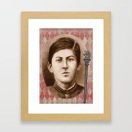 Joseph Stalin 14 years old Framed Art Print