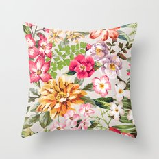 Florality (Pink) Throw Pillow