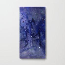 Night Sky Galaxy Nebula Stars Watercolor Space Texture Metal Print