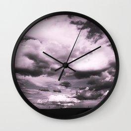 Cloudy Sky #decor #society6 Wall Clock