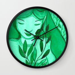 mutual green love Wall Clock