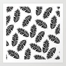 Black and white tropical 2 Art Print