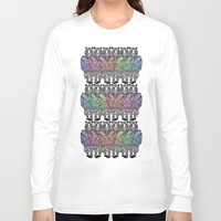 tigers Long Sleeve T-shirts featuring Rainbow tigers by Veronique de Jong · illustration