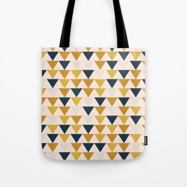 Arrows Pattern in Blush and Mustard and Navy Blue and Taupe Tote Bag