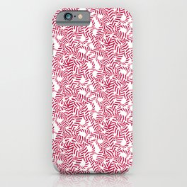Candy cane flower pattern 7 iPhone Case