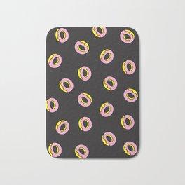 Donuts on Black Bath Mat