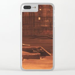 LES Skatepark, Movement Through the Night Clear iPhone Case