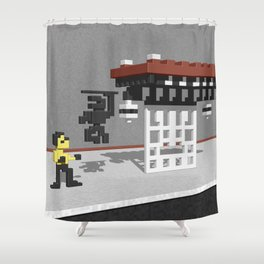 BruceLee Commodore 64 game tribute Shower Curtain