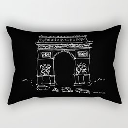Arc De Triomphe BW Rectangular Pillow