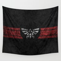 triforce Wall Tapestries featuring TRIFORCE by Stagg Designs