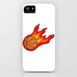 Basketball on fire iPhone Case