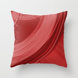Sad semicircular rings of ruby fabric with misty ribbons intersections.  Throw Pillow