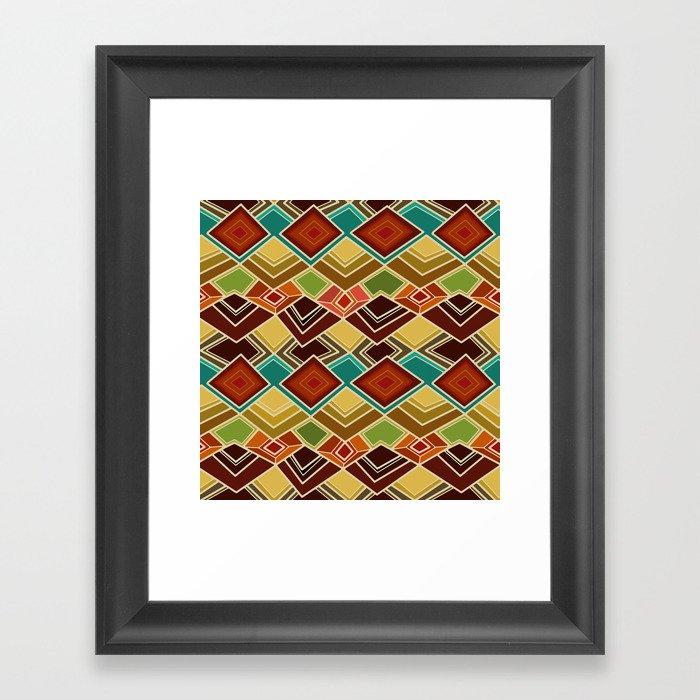 raffia Framed Art Print