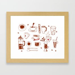 Coffee addict Framed Art Print