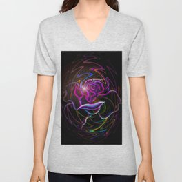 Flowers magic roses 2 Unisex V-Neck