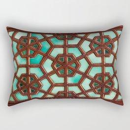 Turquoise orient Rectangular Pillow