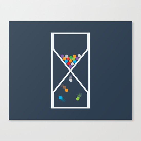 Entropy sandclock Canvas Print
