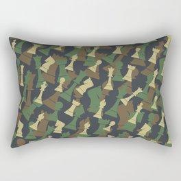 Chess Camo WOODLAND Rectangular Pillow