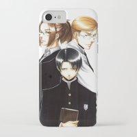 shingeki no kyojin iPhone & iPod Cases featuring OriSor Shingeki No Kyojin High School Fanart by Mistiqarts by Mistiqarts