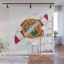 Florida USA Football Ball Flag Wall Mural