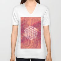 flower of life V-neck T-shirts featuring Life Flower by shutupbek