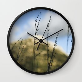 Grass Silhouettes Wall Clock