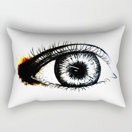 Looking In #1 - Original sketch to digital art Rectangular Pillow