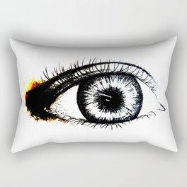Looking In #1 - Original sketch to digital art Rectangular Pillow