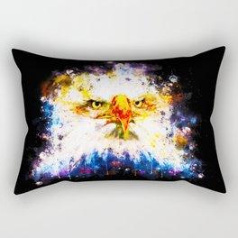 bald eagle splatter watercolor Rectangular Pillow