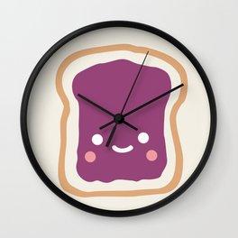 jelly sandwich Wall Clock