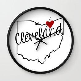 Heart Cleveland Wall Clock